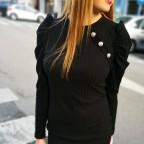 Vestido Abullonado PALMIRA Negro