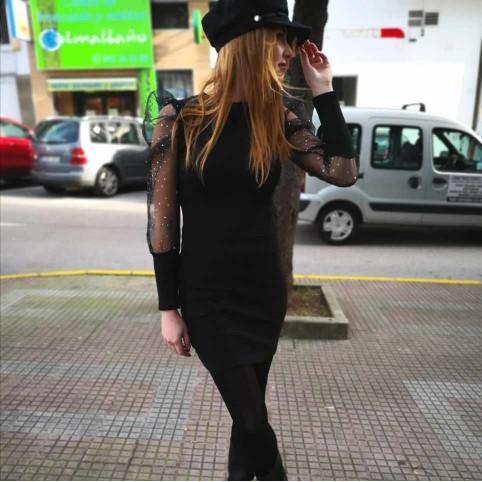 Vestido Strass CLEO Negro