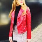 Cazadora Biker KELLY Rojo