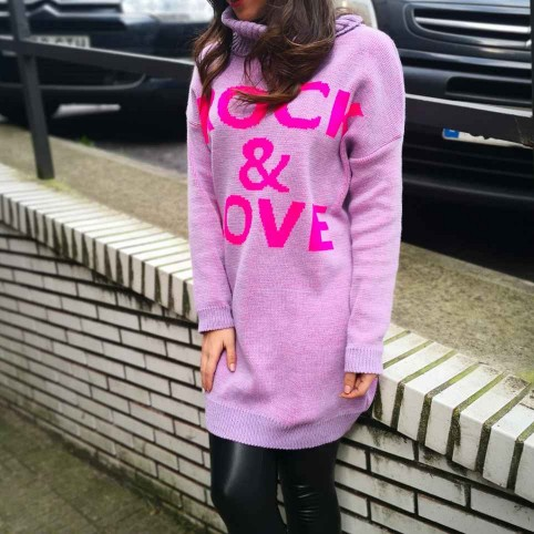 Vestido Punto ROCK & LOVE Lila