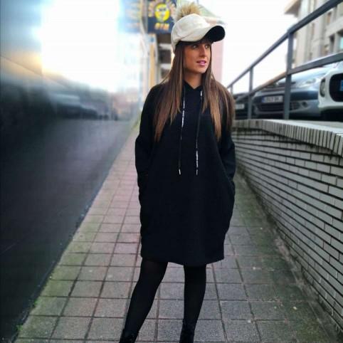 Vestido Rizo MISTY Negro