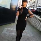 Vestido Plumeti MUSE Negro