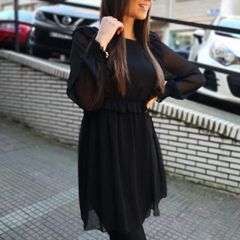 Vestido Gasa SALLY Negro