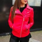Cazadora Biker MONNIE Rojo