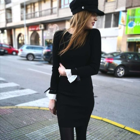 Vestido Punto ADALET Negro