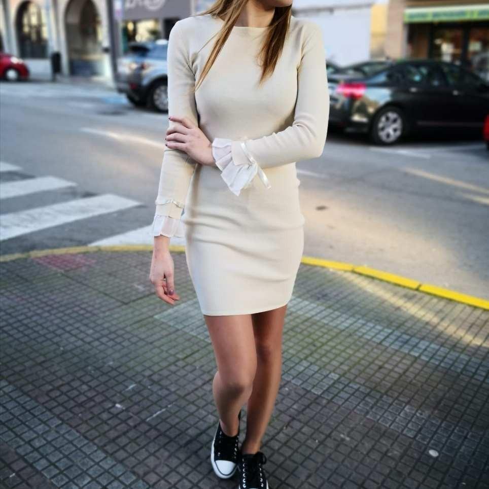 Vestido Punto ADALET Beige