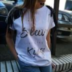 Camiseta Flecos SLEEVE Blanco