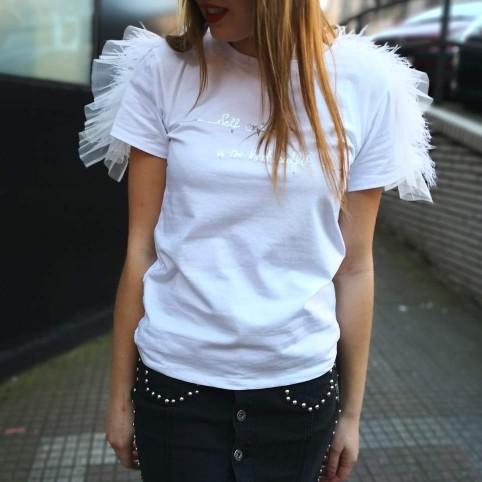 Camiseta Plumas CONFIDENCE Blanco
