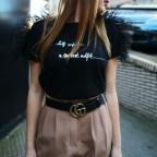 Camiseta Plumas CONFIDENCE Negro