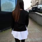 Conjunto Sudadera y Camisa VIVIAN Negro