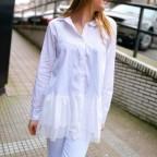 Camisa Volante BRINA Blanco