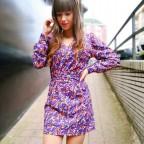 Vestido Floral GIZELE Morado