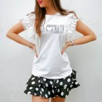 Camiseta Volantes AMOUR Blanco
