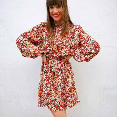 Vestido Floral ISKA Rojo