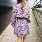 Vestido Floral ISKA Morado