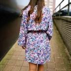 Vestido Floral ISKA Celeste