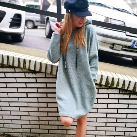Vestido Rizo MISTY Verde Té