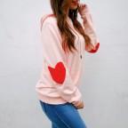 Sudadera Coderas Corazón Rosa