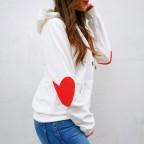 Sudadera Coderas Corazón Blanco