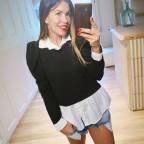 Suéter Combinado DARIELA Negro