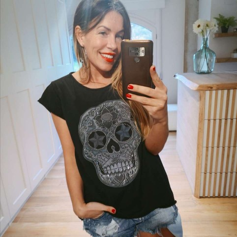 Camiseta Calavera TIJUANA Negro