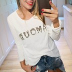 Camiseta AMOUR Blanco/Camuflaje