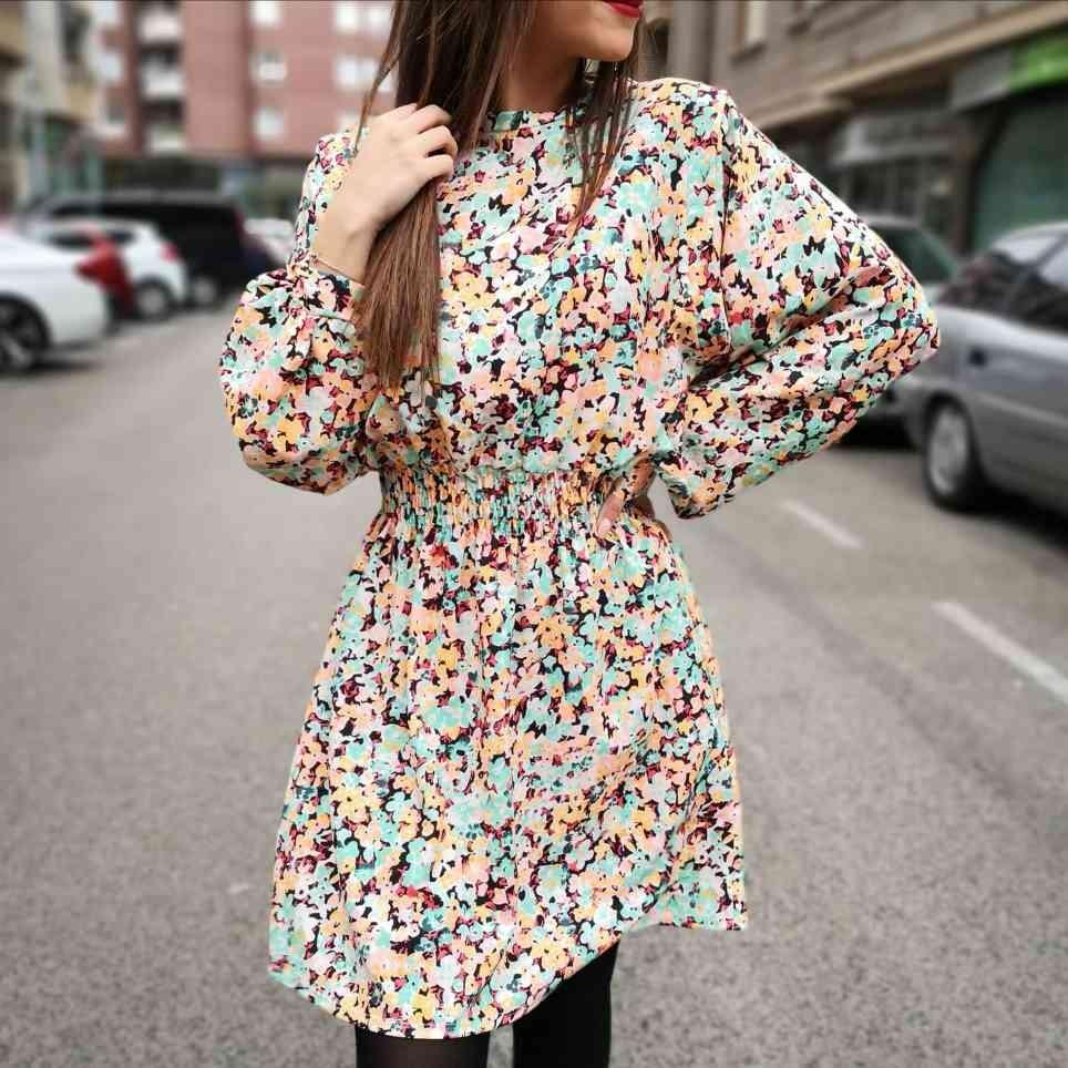 Vestido Floral ISKA Aguamarina