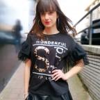Camiseta Plumeti WONDERFUL Negro