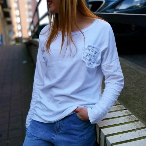 Camiseta Desflecada ARMY Blanco