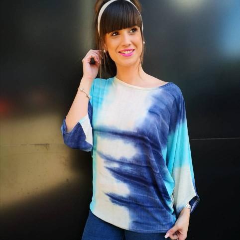 Blusa Murciélago KEISHA Azul