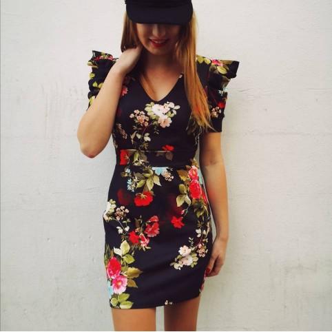 Vestido Floral Abullonado KORALIE Heve