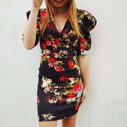 Vestido Floral Abullonado MAREIKE Heve