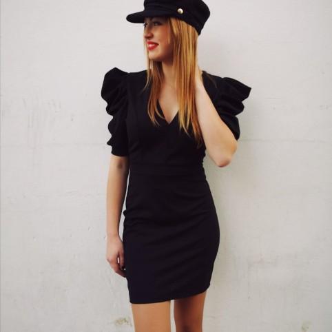 Vestido Abullonado PRUE Negro Heve