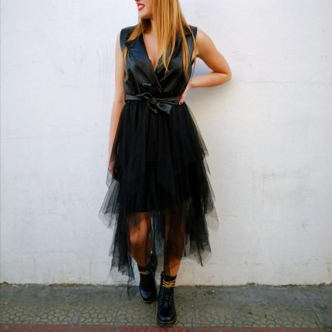 Vestido Combinado BESSIE Negro