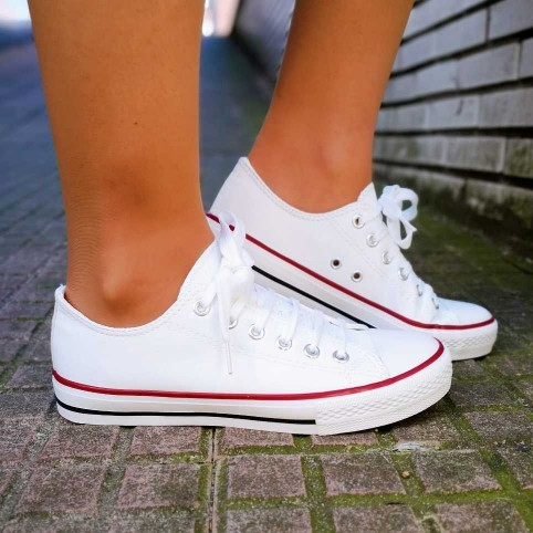 Sneaker Polipiel LONDON Blanco Heve