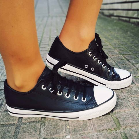 Sneaker Polipiel LONDON Negro