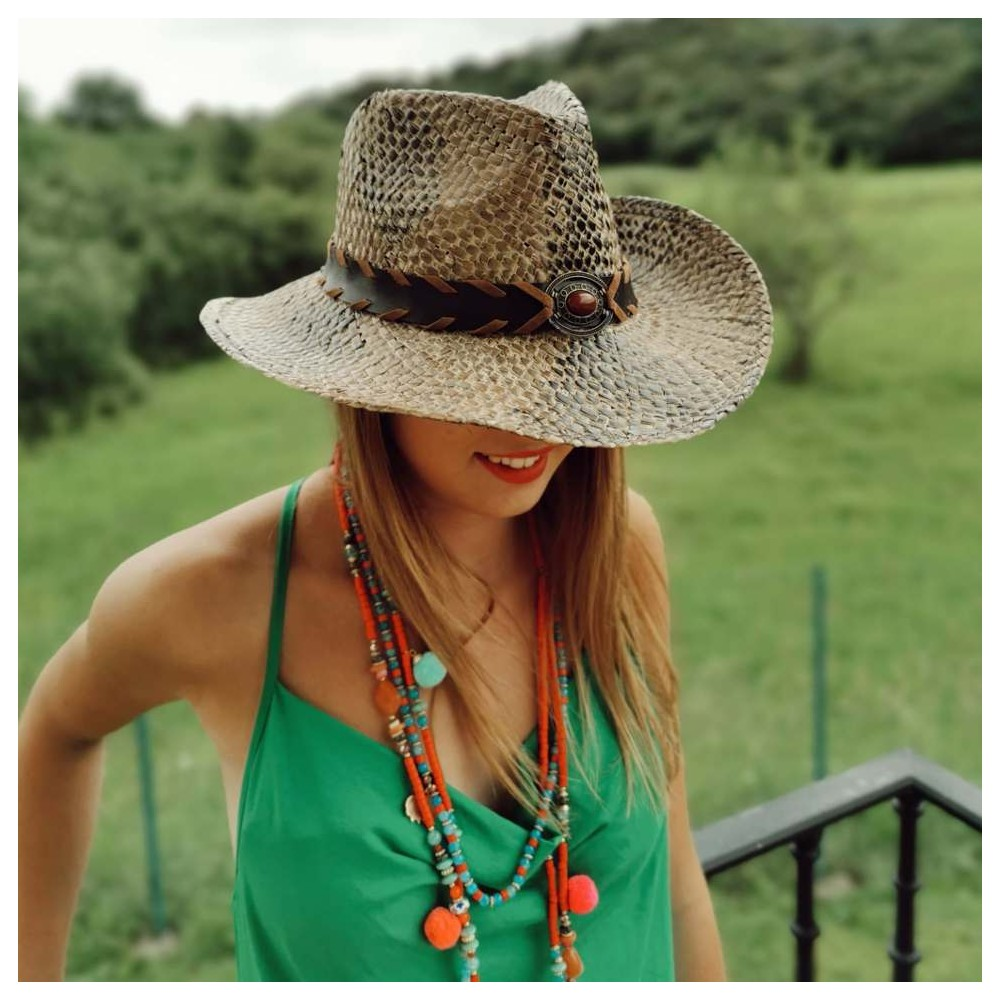 Sombrero Rafia Serpiente Heve