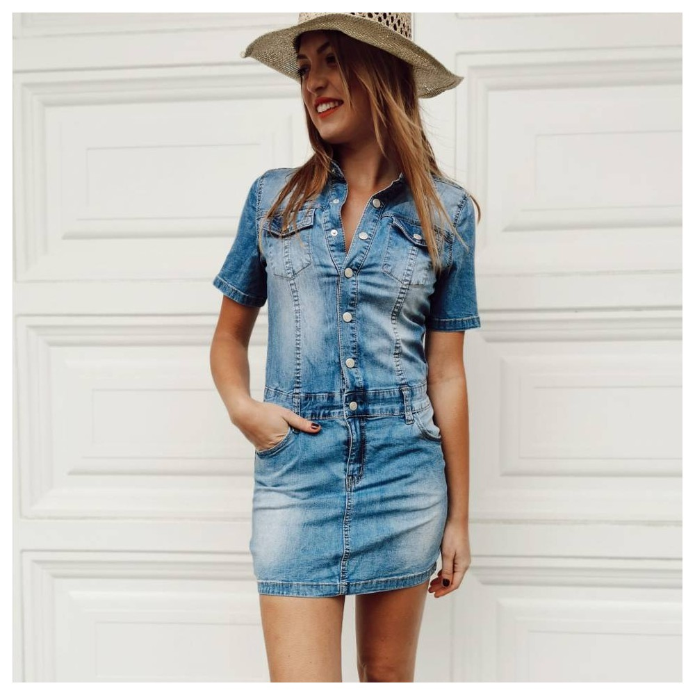 Vestido Denim TEXAS Heve