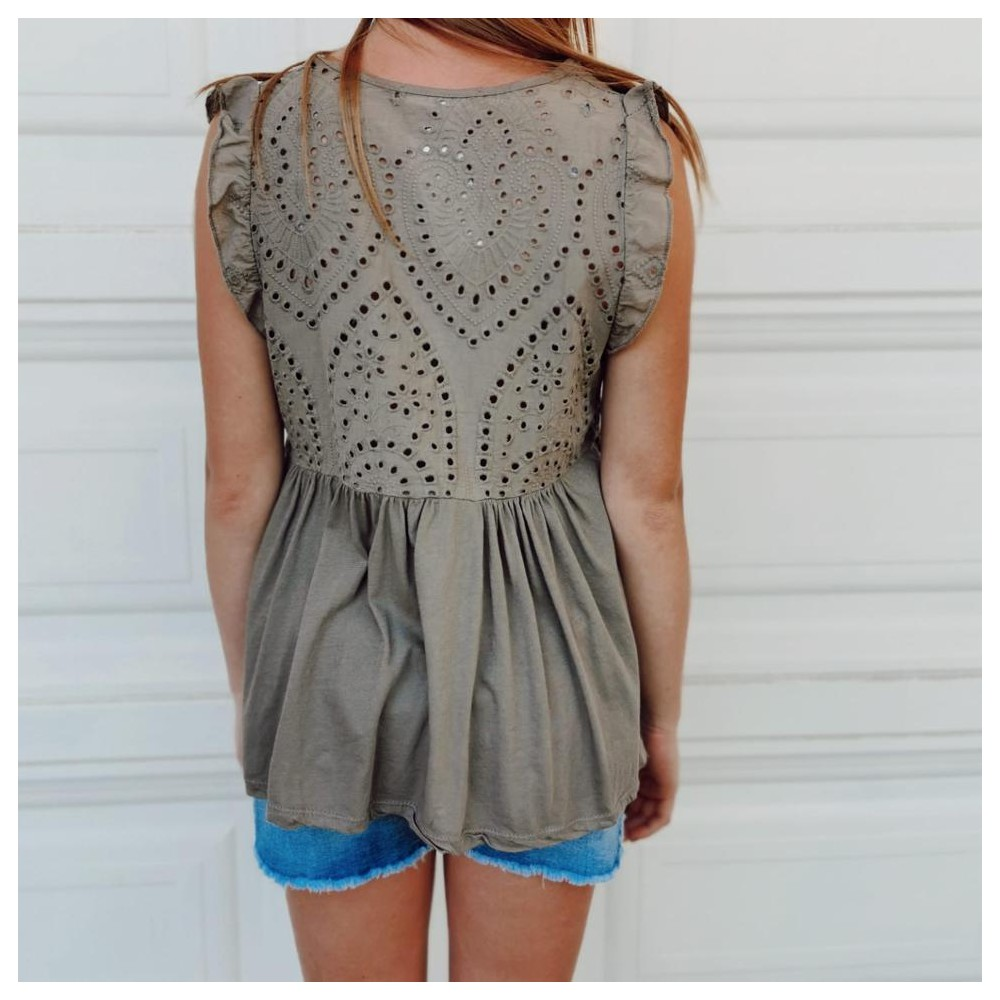 Blusa Vuelo GRISEL Taupe Heve