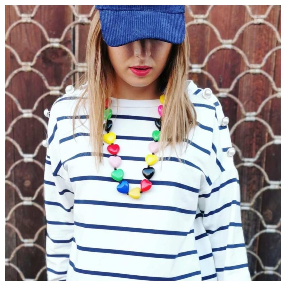 Collar Corazones Multicolor Heve