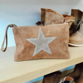 Bolso Piel GLAM Camel/Taupe Heve