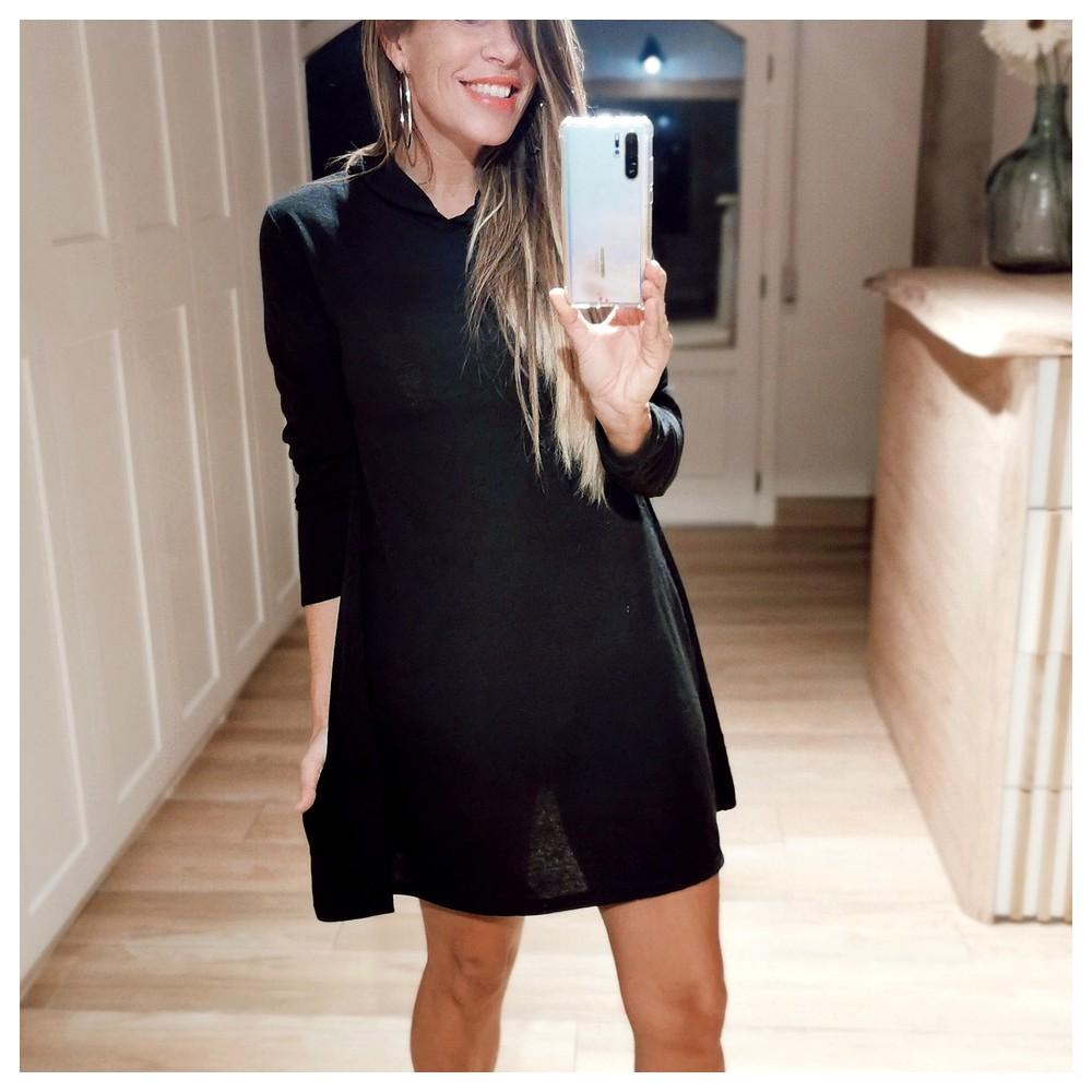 Vestido Punto TOURING Negro Heve