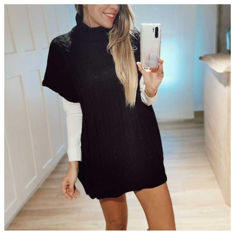 Vestido Punto MALOU Negro Heve