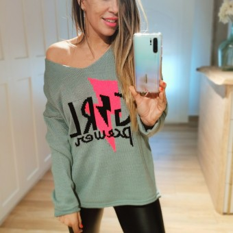 Jersey Oversize GIRL POWER Verde Heve