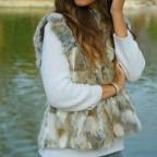 Chaleco Pelo Camel